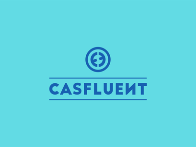 Casfluent Logo branding illustration typography minimalist concept vector logo design