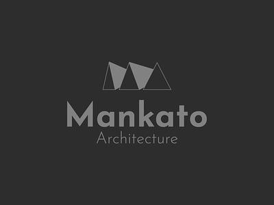 Mankato Logo triangles shape architecture creative branding illustration typography minimalist concept vector logo design