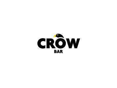 Crowbar vector animal bar crow design logo
