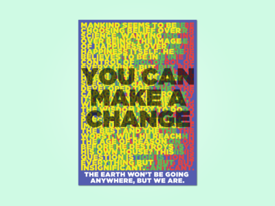 You Can Make a Change Poster