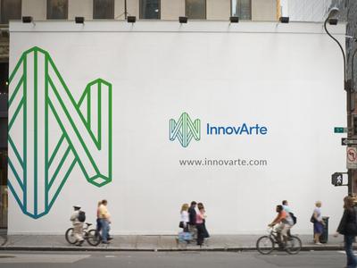 Innovarte billboard typography ux icon ui flat clean brand logo branding design