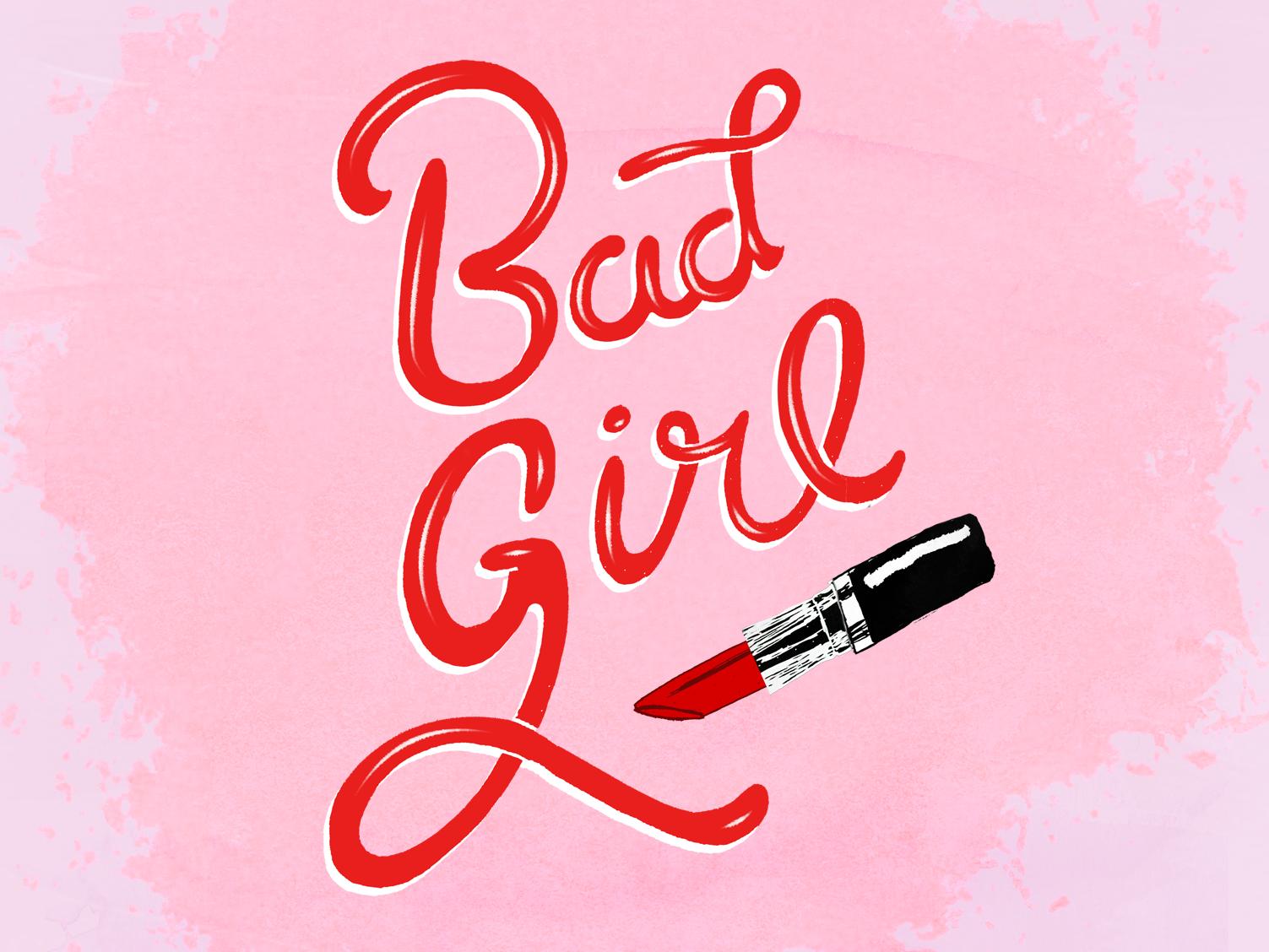 Lettering - Bad girl music lettering design