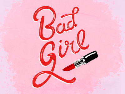Lettering - Bad girl