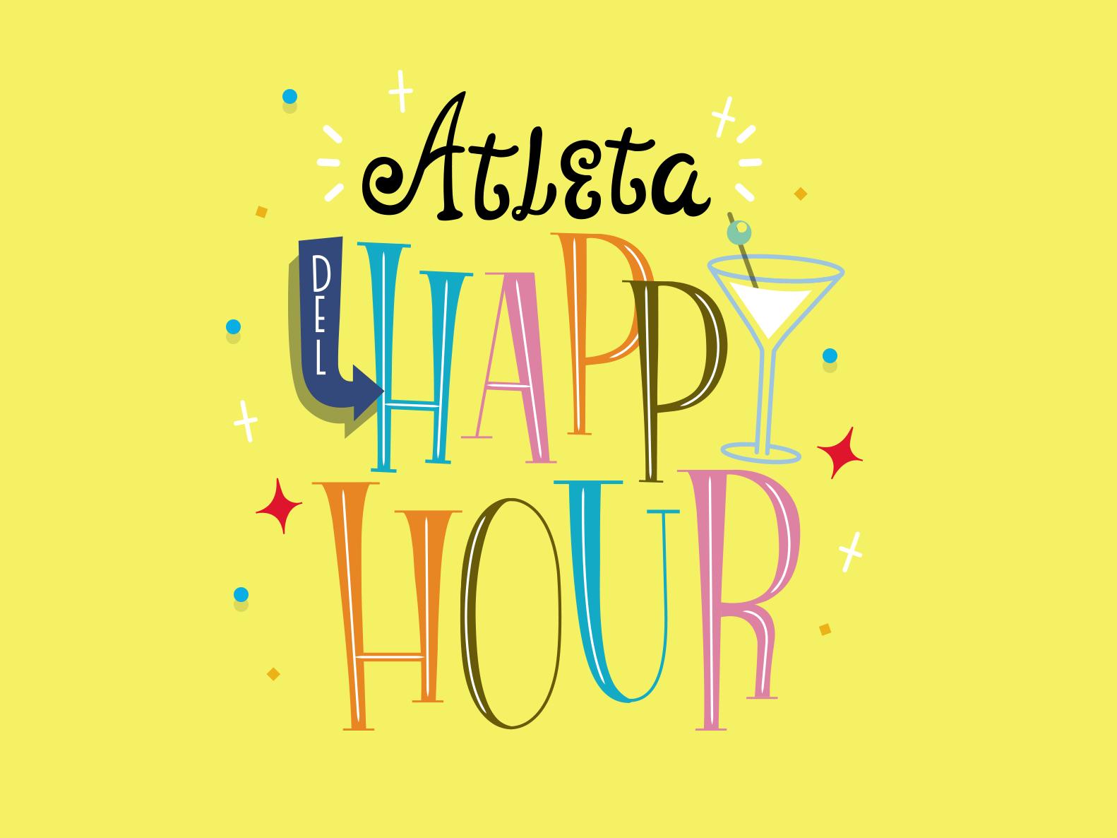 Lettering - Happy Hour phrase drinks design lettering