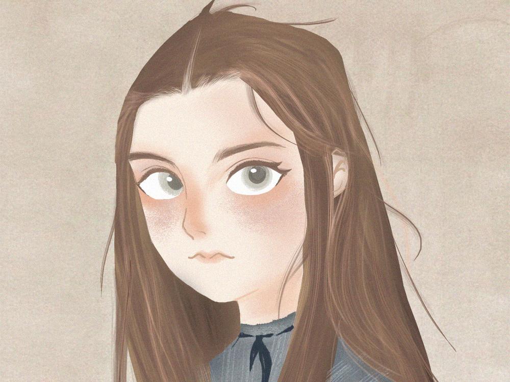Business illustration-Ruthless girl girl illustration beautiful animation business design illustration