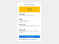 Daily UI #2 - Credit Card Form