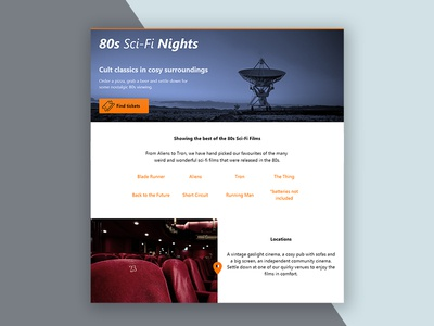 Daily UI #3 - Landing Page ui daily ui landing page