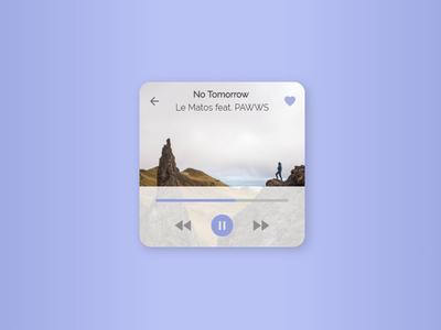 Daily UI #9 -  Music Player ui daily ui music player