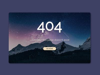 Daily UI #8 - 404 Page galaxy daily ui 404