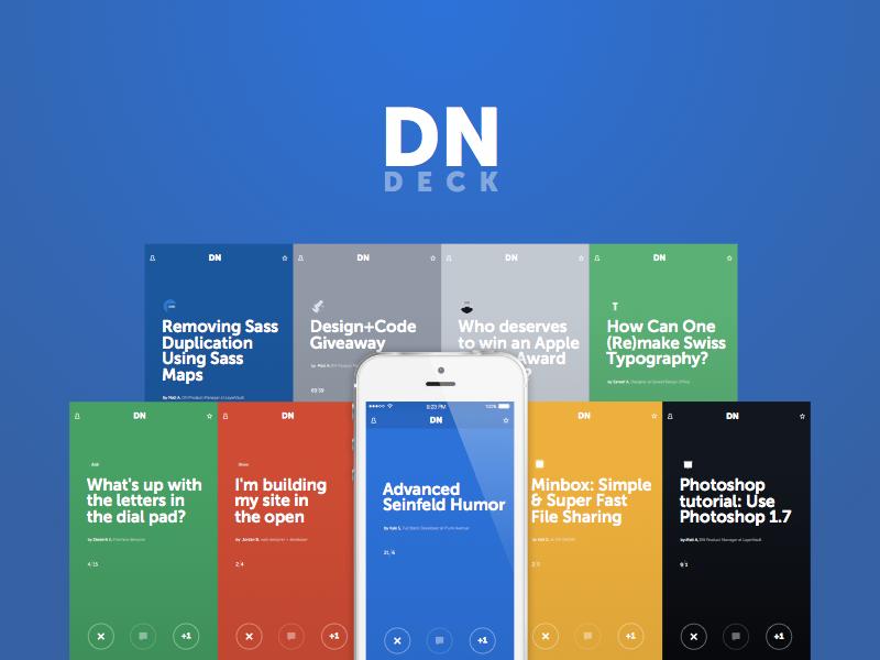 Designer News Deck museo sans minimal cards designer news ios7