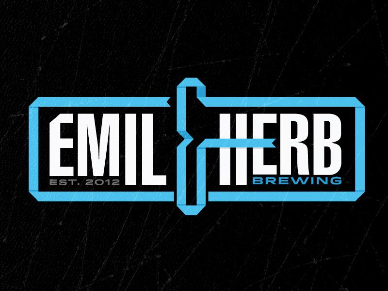 Emil & Herb Logo ribbon beer logo