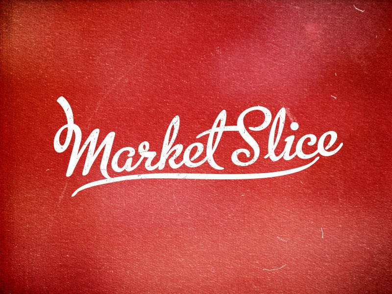 Market Slice logo lettering
