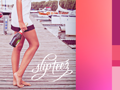 Slip Teez Brand brand color palette photo style art direction