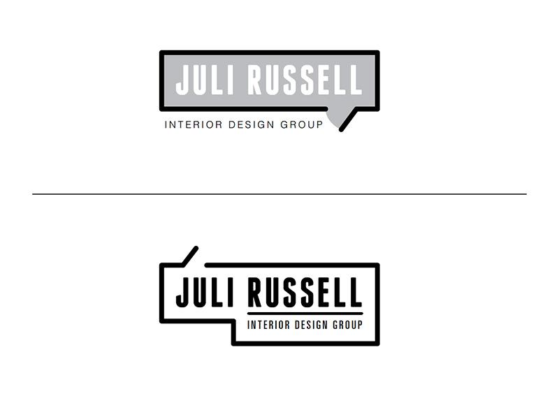 Juli Russell Logo 1 logo logotype modern