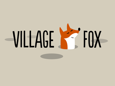 Village Fox Logo logo illustration