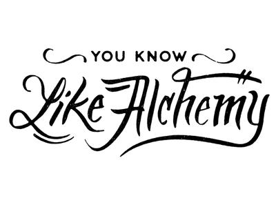 Like Alchemy Lettering logo logotype lettering