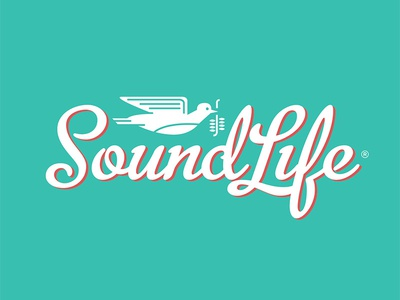 Soundlife Logo Option 02 dove bird iconography illustration