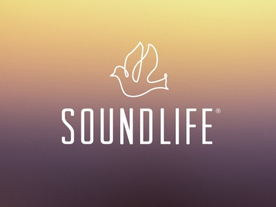 Soundlife Logo Option 03 dove bird iconography illustration logo