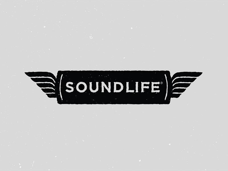 Soundlife Logo Option 04 bird wings iconography illustration logo