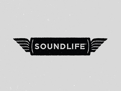 Soundlife Logo Option 04 bird wings iconography illustration logo