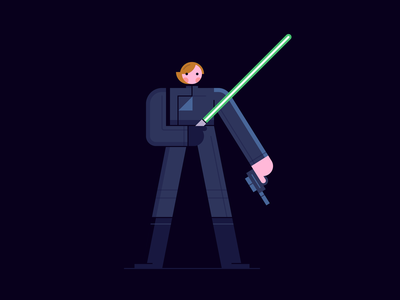 Jedi Luke star wars may the 4th leia a new hope luke skywalker empire strikes back return of the jedi light saber death star jedi hoth illustration character design