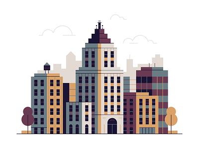 Lil' FIDI illustration wtc city big apple gotham skyscraper battery park fidi manhattan iheartny new york city new york nyc