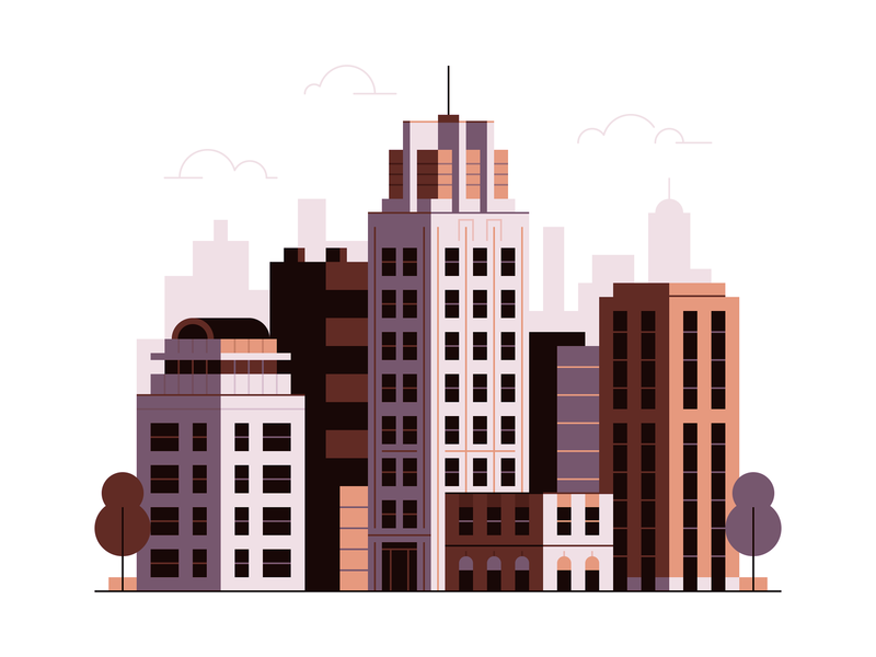 Lil' FIDI 3 illustration wtc city big apple gotham skyscraper battery park fidi manhattan iheartny new york city new york nyc