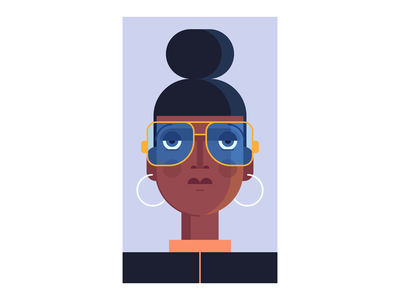 Tinted Gaze tinted earrings illustration sunglasses hair woman glasses girl lady character design people