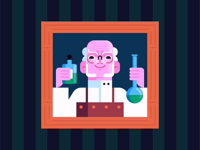 Poison october beakers laboratory mad scientist poison character design halloween holiday illustration