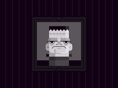 Frankenstein october monster frankenstein halloween character design holiday illustration