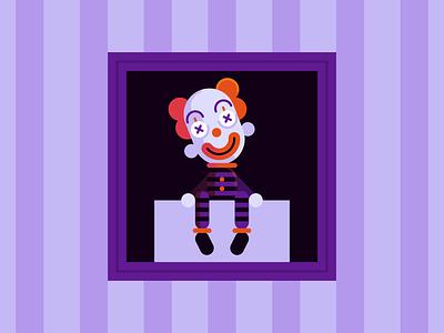 Puppet october monster dummy clown puppet halloween character design holiday illustration