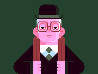 George Smiley character design spy illustration smiley tinker tailor soldier spy george smiley