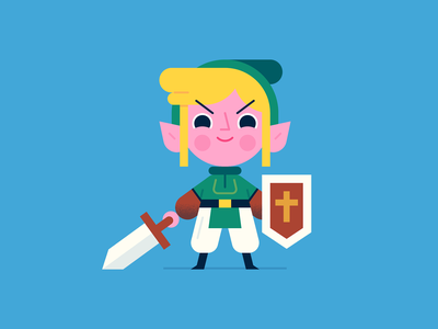 Link video game illustration character design nintendo nes link legend of zelda zelda