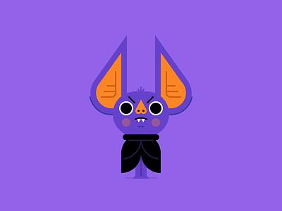 Halloween Bat creepy monster blood bat october halloween character design holiday illustration