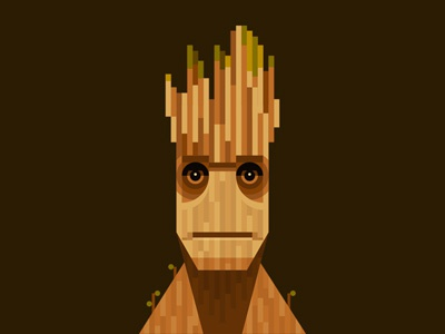 I am Groot guardians of the galaxy illustration groot