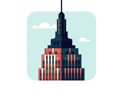 Merry Christmas festivus illustration empire state building nyc new york holiday christmas