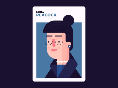 Mrs. Peacock board games character design mrs peacock peacock illustration design clue