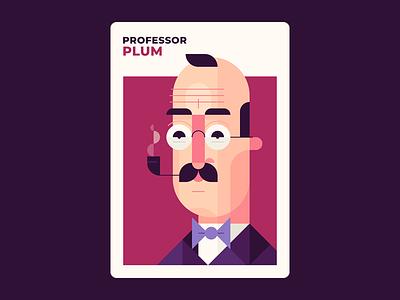 Professor Plum board games character design professor plum plum illustration design clue