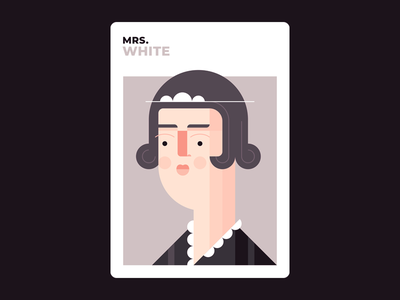Mrs. White white mrs white illustration design clue character design board games