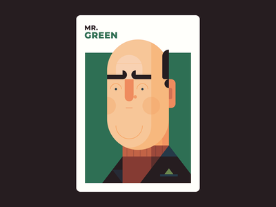 Mr. Green green mr green illustration design clue character design board games