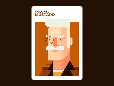 Colonel Mustard yellow mustard colonel mustard illustration design clue character design board games