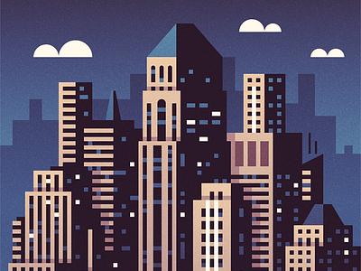 Midtown manhattan illustration gotham new york nyc