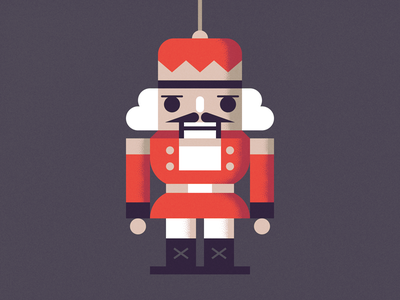 Nutcracker Ornament nutcracker ornament holiday christmas illustration
