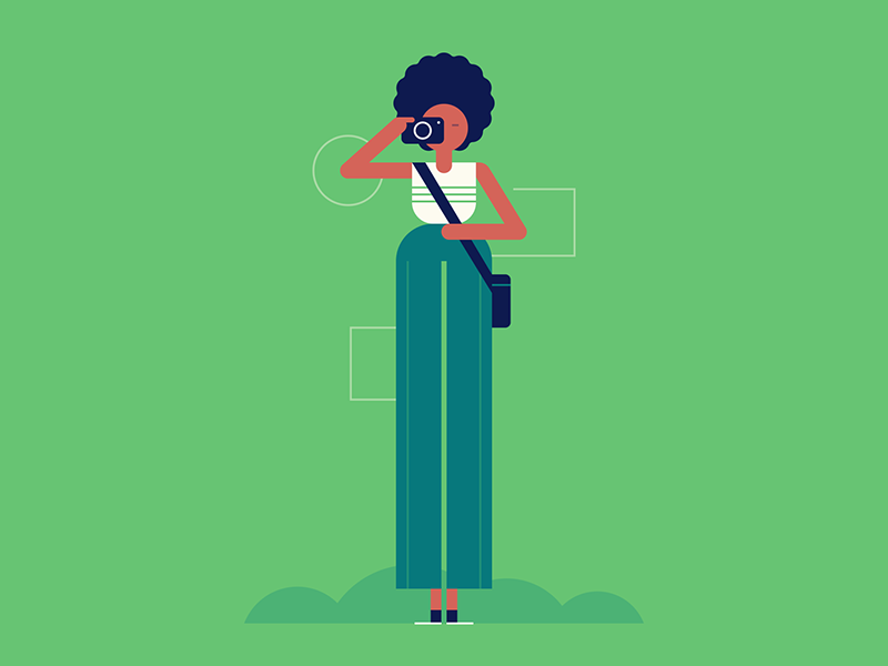 Say Cheese camera photographer people character design illustration