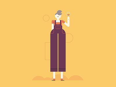 Classy Drunk illustration people drunk wine character design