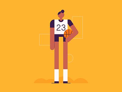 Baller people athlete nba basketball sports character design illustration