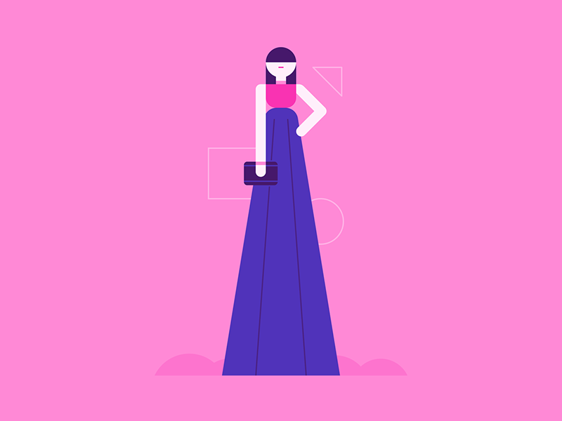 Red Carpet fashion red carpet dress people character design illustration