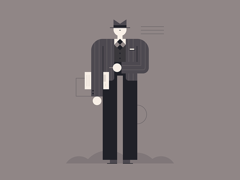 Private Dick gumshoe cigarette noir people sleuth detective private eye private dick character design illustration