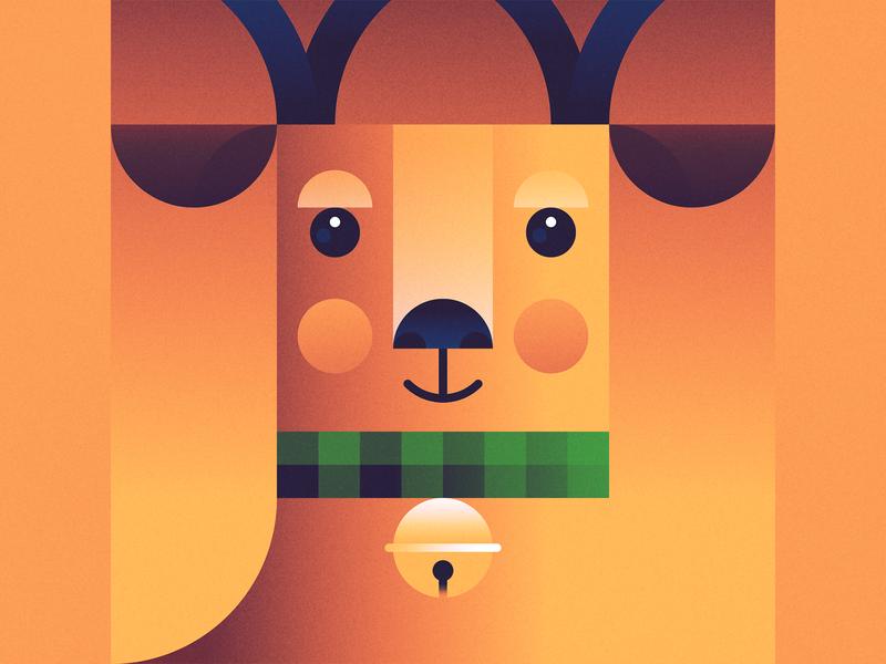 Reindeer holiday holiday season christmas scarf winter illustration sleigh bells jingle bells holly antlers reindeer