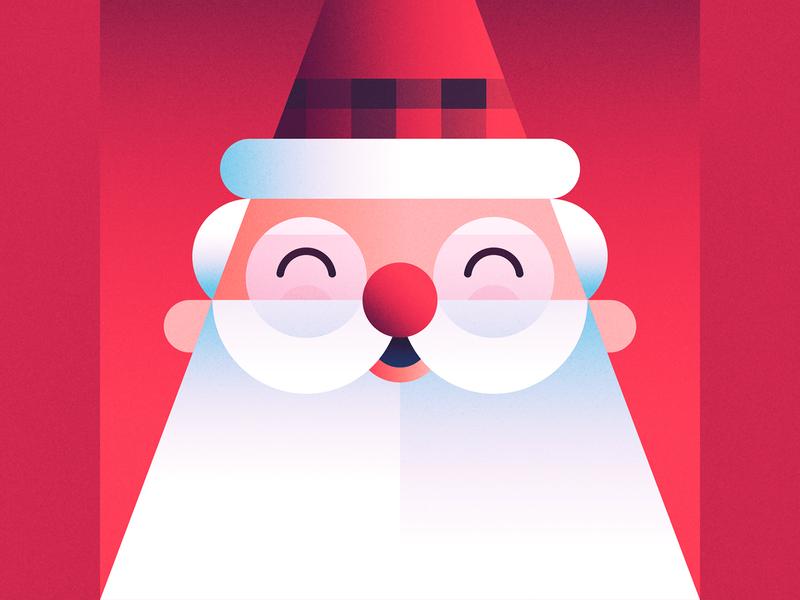 Santa holiday santa claus gifts beard kris kringle holiday season christmas winter illustration jingle bells holly hohoho santa